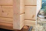 Srubové domy, chaty, dřevostavby  - trámy - detail
