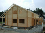 Srubové domy, chaty, dřevostavby  - isolierung - detail