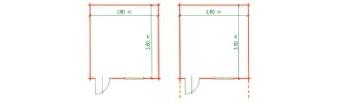 Zahradní chatky - Easy 10 a 10V - detail